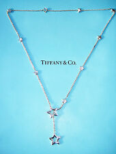 Tiffany & Co Star Link Lariat Sterling Silver Necklace
