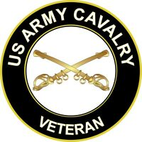 "Army Cavalry Veteran 5.5"" Sticker 'Officially Licensed'"