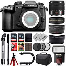 Panasonic Lumix DC-GH5  DSLR Camera w/ 5 Lens - 14 to 90mm - 64GB - 30PC Kit