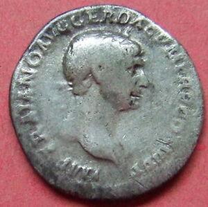 Roman silver coin. Trajan Denarius - .....Au 04