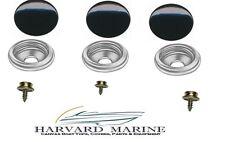 PRO Grade Boat Marine Canvas Cover BLACK SNAP CAP SS SOCKET & SS STUD KIT