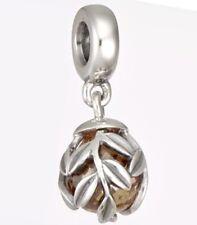 Authentic Pandora LAUREL LEAVES Dangle Charm W/ Pandora TAG & BOX 791407CCZ