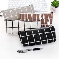 Zipper Pencil Pen Case Storage Pouch Purse Students School Cosmetic Makeup Bag