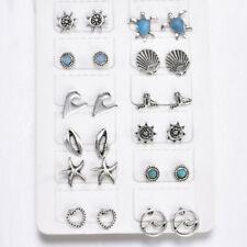 12 Pairs Vintage Geometric Stud Earrings Set Women Girls Fashion Small Earring