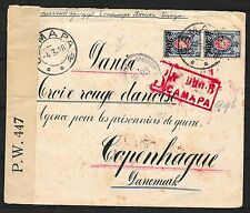 Russia covers 1918 PAIR Censored Prisoner Of War cover Copenhagen