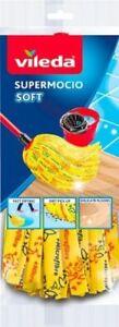 VILEDA SUPERMOCIO SOFT MOP HEAD REFILL MICROFIBRE FLOOR CLEANING ABSORBENT NEW