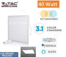 V-TAC PANNELLO LED 40W 60X60 SMART WI-FI TRICOLOR DIMMERABILE ALEXA GOOGLE HOME