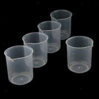 5 Pcs Lab 500ml Plastic Graduated Measuring Beaker Liquid Cup Container