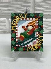 "2005 Mary Engelbreit ""Merrily, Merily� Square 4�x 3-1/2� Christmas Ornament"