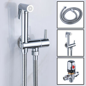Thermostatic Mixer Valve Toilet Shower Head Bidet Spray Muslim Shower Shattaf