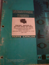 Vintage International Parts Manual -# Dt 414 & 466 Diesel Engine - 1973