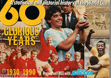 ALBUM FIGURINE=60 GLORIOUS YEARS=1930-1990 History of the world cup=World Soccer