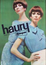 HAURY TERGAL Fashion Clothings Vintage 1960 Swiss advertising poster 36x51 NM