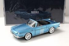 1:18 NOREV RENAULT CARAVELLE Cabriolet 1964 BLUE NEW in Premium-MODELCARS