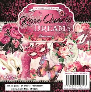 ROSE QUARTZ DREAMS Hunkydory Little Book Sample Pack 24 sheets Pearlescent