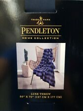 Pendleton Home Collection Rob Roy Luxe Multi Color Throw Blanket 50 X 70 NWT