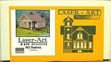 NIB HO Branchline Laser-Art #619 Thelma House Kit