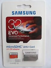 Samsung - EVO Plus 32GB microSDHC Class 10 UHS-1 Memory Card with Adapter 80mb/s