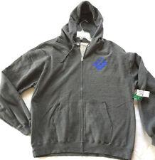 LRG M153066 Graphic Gray Cotton Polyester Pocket L/S Zipper Hoodie Men's 2XL new