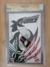 2 x Uncanny X-Force #1 CGC SS - 1st- 9.8 Signed & sketched by Ken Hauser DF COA
