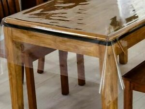 Clear plastic pvc cover sheet for office table, dining table, Coffee tablecloth