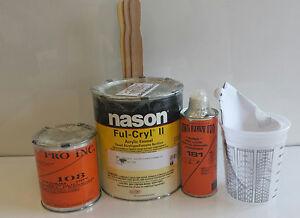 Dupont/Nason Ful-Cryl II super jet black acrylic enamel restoration paint kit