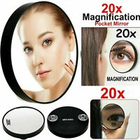 20 x Magnifying Mirror Eye Makeup Professional Pocket Vanity Eyebrow Tweezing