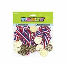 24 PCS Kids Winners Gold Medals Plastic Medals for Children's Sports Day