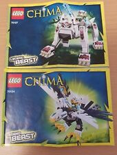 LEGO CHIMA LEGEND BEASTS X 2. WOLF & EAGLE. COMPLETE & INSTRUCTIONS. 70127.70124