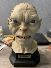 Displayed Sideshow Lord of the Rings Gollum 3/4 Scale Bust No Box