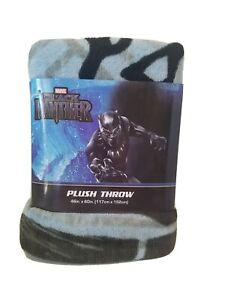 "Marvel Black Panther Super Hero Soft Plush Throw Blanket 46"" X 60"". NEW"