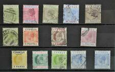CYPRUS STAMPS SELECTION OF 15 ON STOCK CARD  (J12)