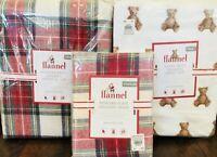Pottery Barn Kids Morgan Twin Duvet Teddy Bear Sheet Set Sham Christmas Bedding