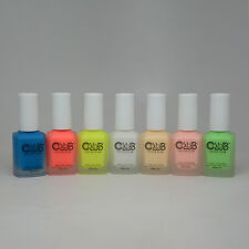 Color Club Nail Lacquer Pop Chalk Collection Summer 2016 Neon Matte Set of 7 New