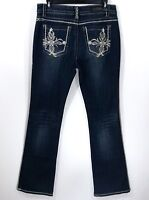 Rose Royce Women's 13/14 (31) Celine Bootcut Jeans Embellished Bling Pockets NWT