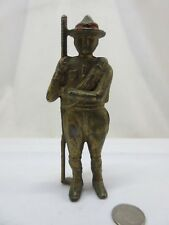 Antique A.C. Williams Cast Iron Soldier / Boy Scout / Trooper Red Hat Band Bank