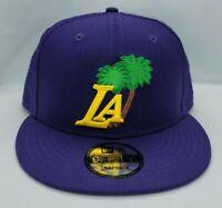 NEW ERA 9FIFTY SNAPBACK HAT.   NBA.   LOS ANGELES LAKERS.   PURPLE.