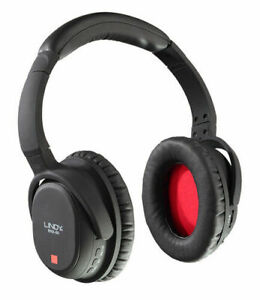 Lindy BNX-60 Active Noise Cancelling Bluetooth Headphones - Black/Red