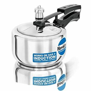 1.5 Ltr Stainless Steel Hawkins Induction Compatible Pressure Cooker - Pack of 1