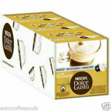 Dolce Gusto Unsweetend Latte Machiato (3 Boxes,Total 48 Capsules ) 24 Servings
