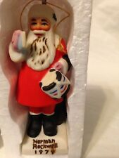 Norman Rockwell Saturday Evening Post Cover Collection Santa 1979 Ornament