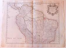 Pérou Brésil Amazonie carte map par Guillaume de l'Isle XVIIIème siècle