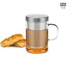Samadoyo s-050 Acciaio Inossidabile Infusore Filtro Vetro Tè Tazza Mug 500ml Bodum