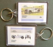 1934 SINGER NINE 9  Car Stamp Keyring (Auto 100 Automobile)