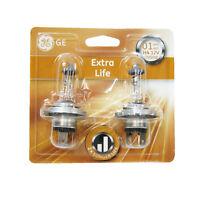 2 X H4 Halogen Light Bulbs Extra Life Longer Life Xenon Ge Genuine 60/55w
