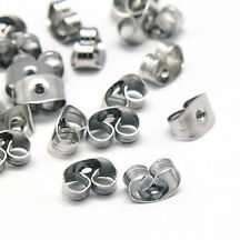 100pcs Quality Stainless Steel Butterfly Earnut Safety Earring Stopper Backs 6mm
