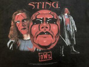 VTG 90s 1998 WCW NWO New World Order STING Steve Borden Wrestling T Shirt XL ?