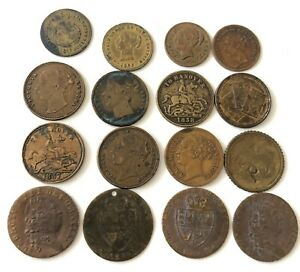 Brass Gaming Tokens Coins Counter Victorian Victoria 1837 To Hanover Cards bulk