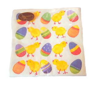 EASTER Napkins 3 Ply 10in 20 ct FUNKY CHICKEN Spring Party Egg Chick Cocktail