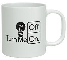 Turn Me On and Off Light Bulb Energy White 10oz Novelty Gift Mug Cup